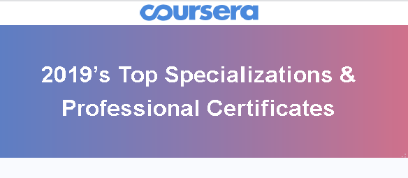2019's Top Specializations & Professional Certificates